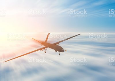 Unmanned military drone uav flight motion blur high speed.